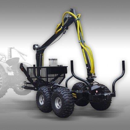 ATV-traktori palgikäru kraanaga HRW-15