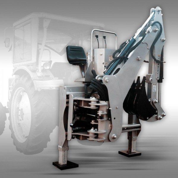 Külgnihkega ekskavaator BHSM-225 traktori rippesse