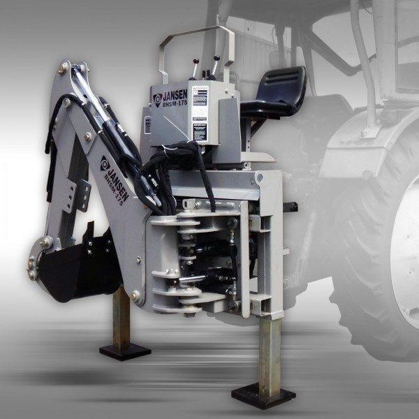 Külgnihkega ekskavaator traktorile kolmepunkti kinnitusega, rippesse, BHSM-175
