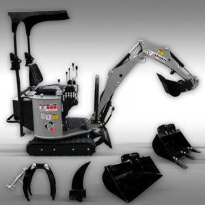 Miniekskavaator Jansen MB-1500 bensiinimootoriga